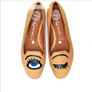 Jeffrey Campbell natural hey there flat